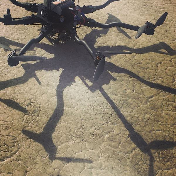 setting up to use the freefly alta 8 on Coyote Dry Lake Bed