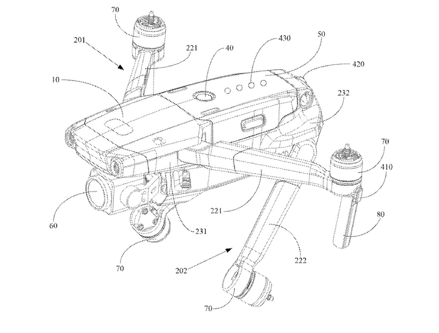 DJI Mavic 3 not shown in patent filing