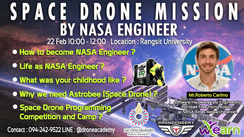 Space Drone Mission By NASA Engineer