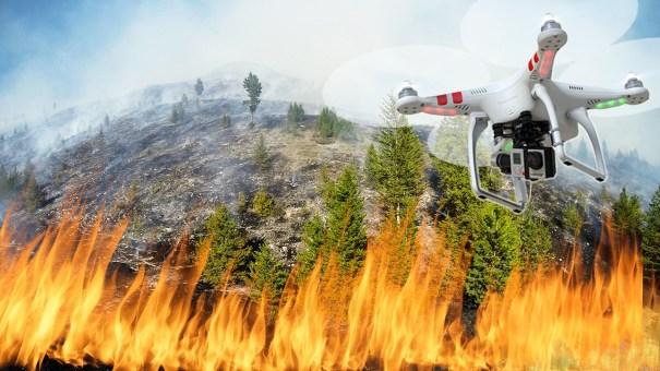 Resultado de imagen de dron incendio forestal