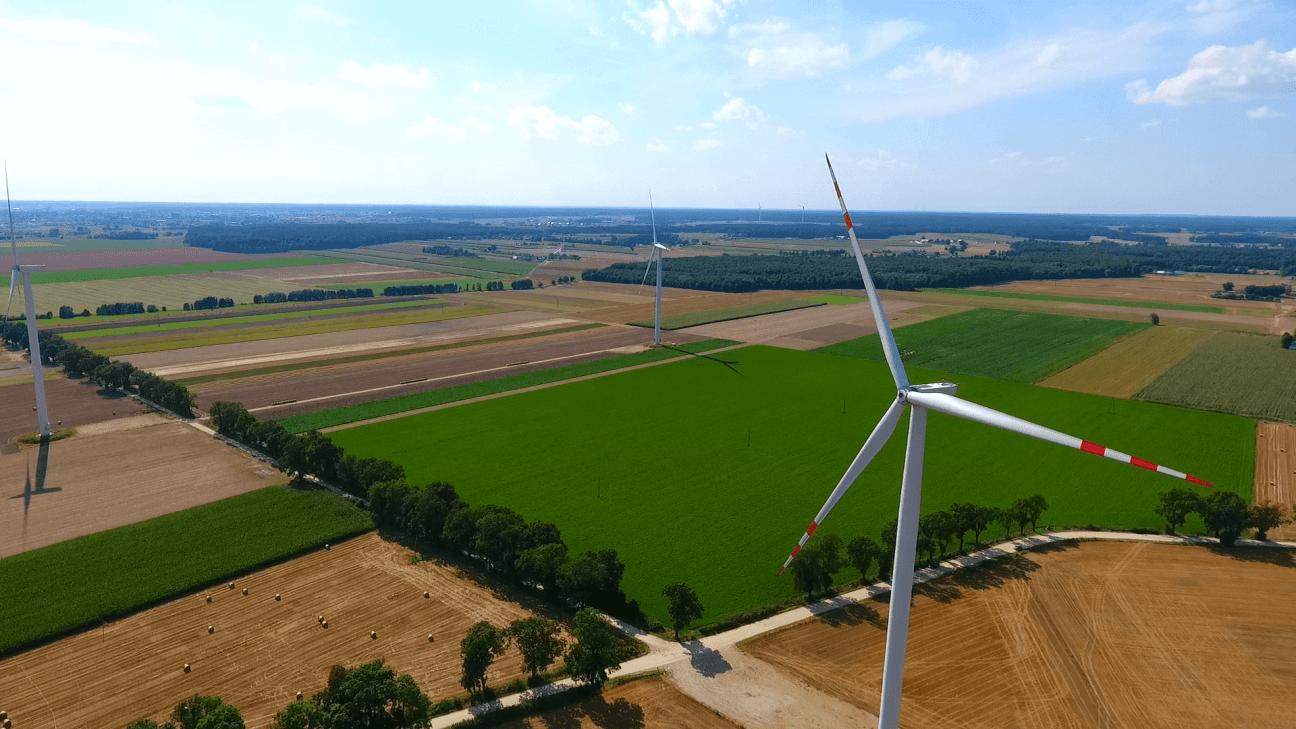 farma wiatrowa Opalenica