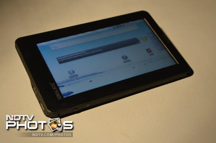 First Pictures:  The Aakash, India's $50 Tablet : NDTVGadget.com