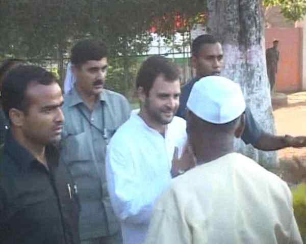 Rahul Gandhi breaks security cordon to meet children ...