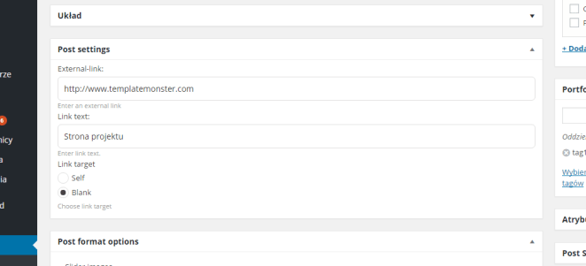 monstroid theme cherry portfolio link settings