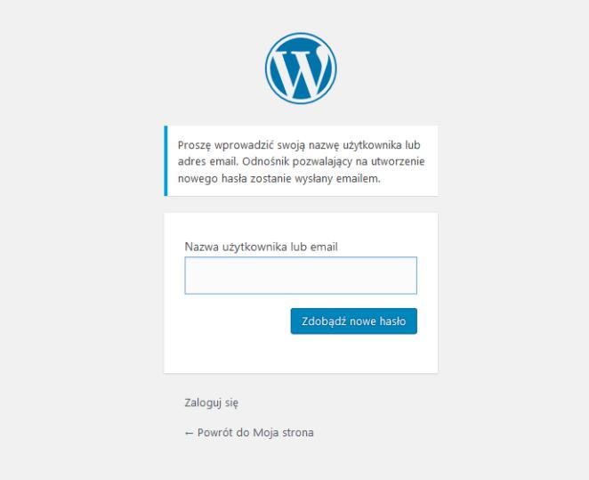 Pole wpisywania nazwy użytkownika lub maila