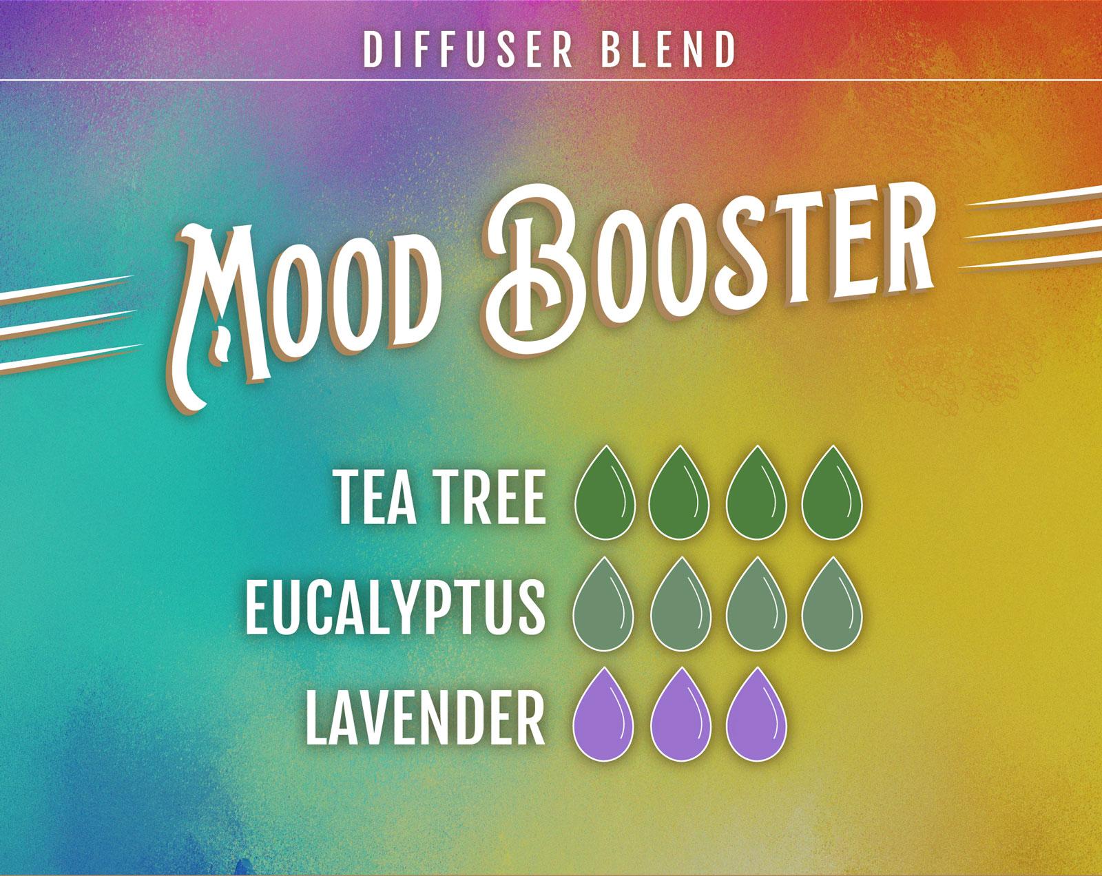Tea Tree Essential Oil Diffuser Blend V Mood Booster - 4 drops Tea Tree 4 drops Eucalyptus 3 drops Lavender