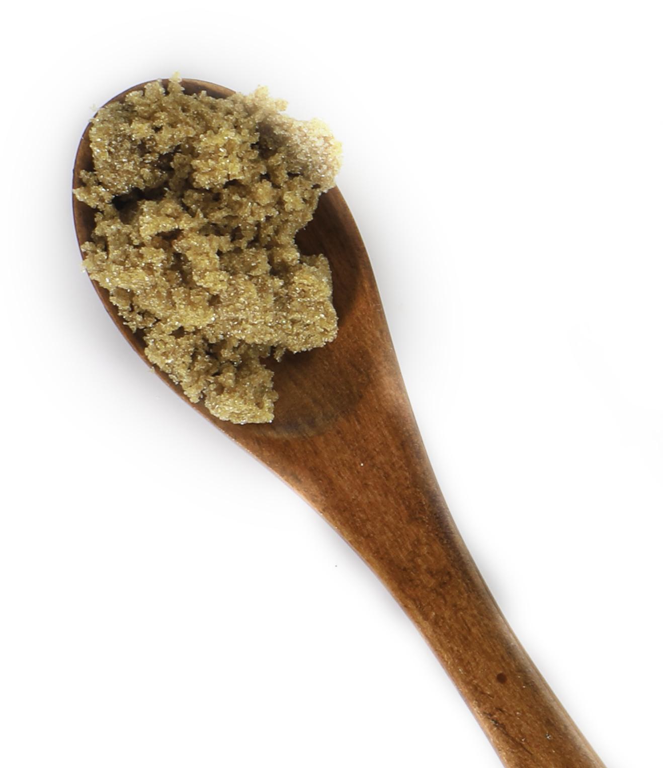 Brown Sugar On Spoon