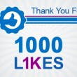 1000 likes – Thank You!
