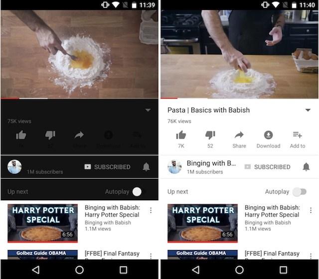 YouTube dark watch mode