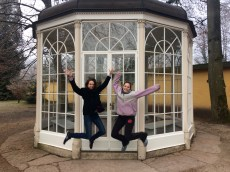 The tour guide said we needed a jumping picture.
