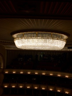 The crystal chandelier that one person takes over a week to clean.
