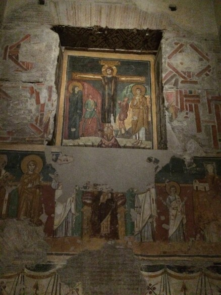 Frescos at this church in the Roman Forum