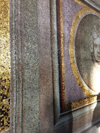 All the paintings are actually mosaic replicas of the originals
