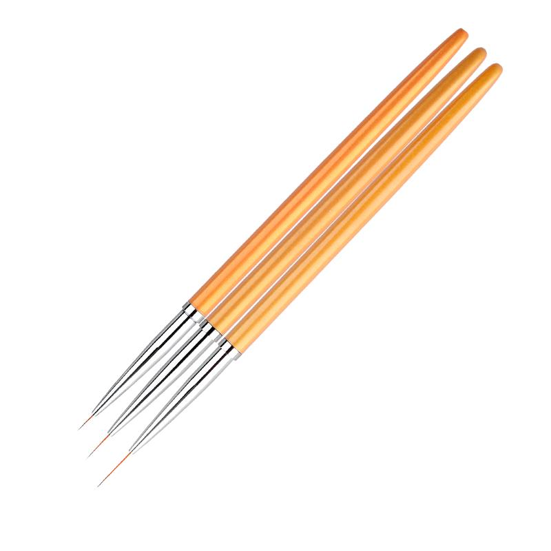 Gold Nail Art Brushes Set