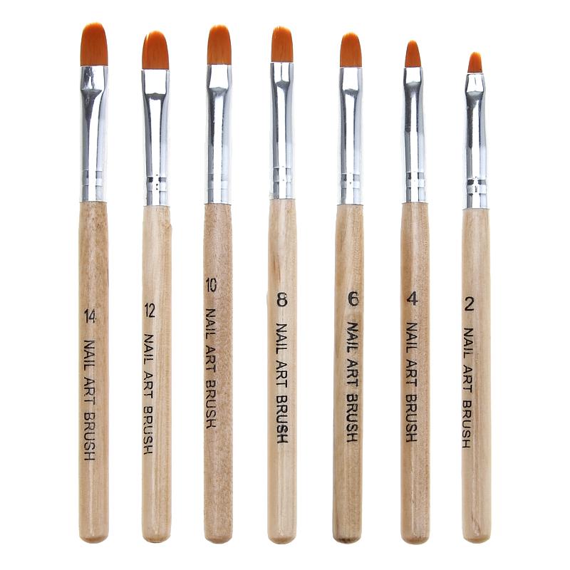 Wooden Nail Art Brushes Set