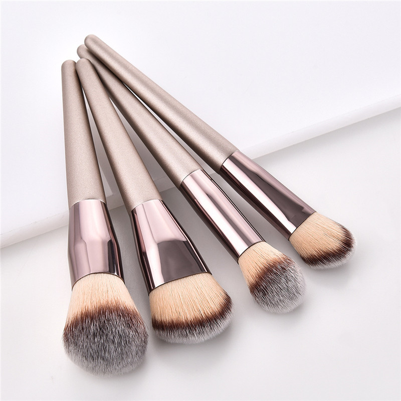 Champagne Color Makeup Brushes Set