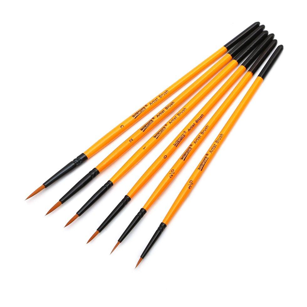 Miniature Paint Brush 6 Pcs Set