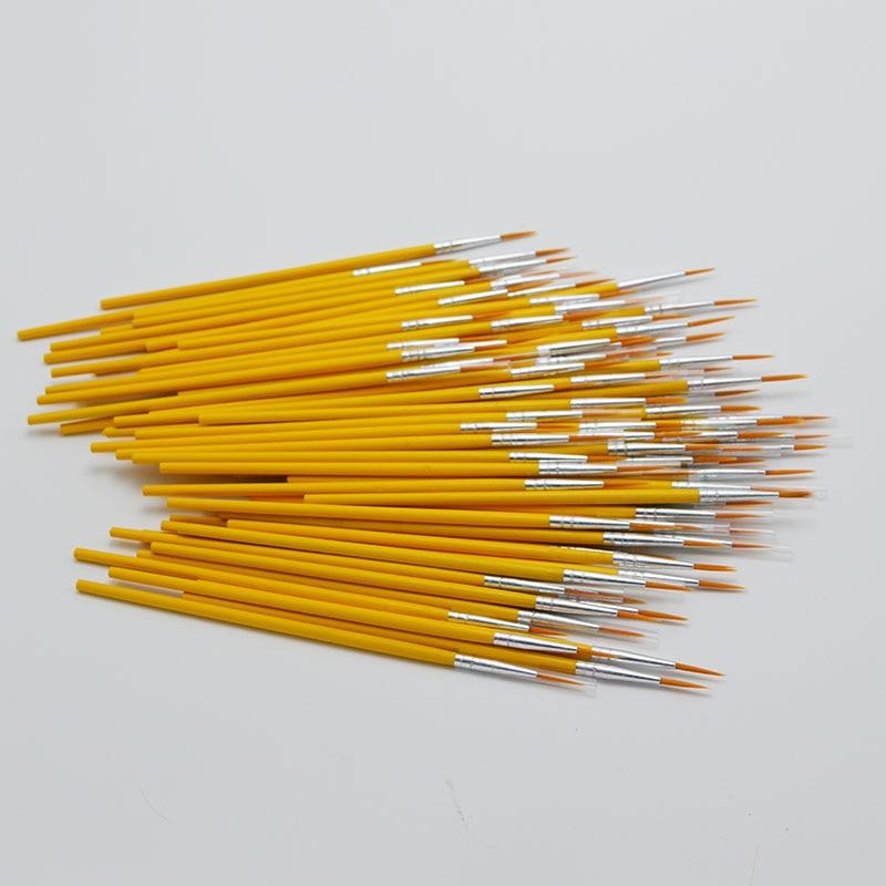 Yellow Design Hook Line Brush