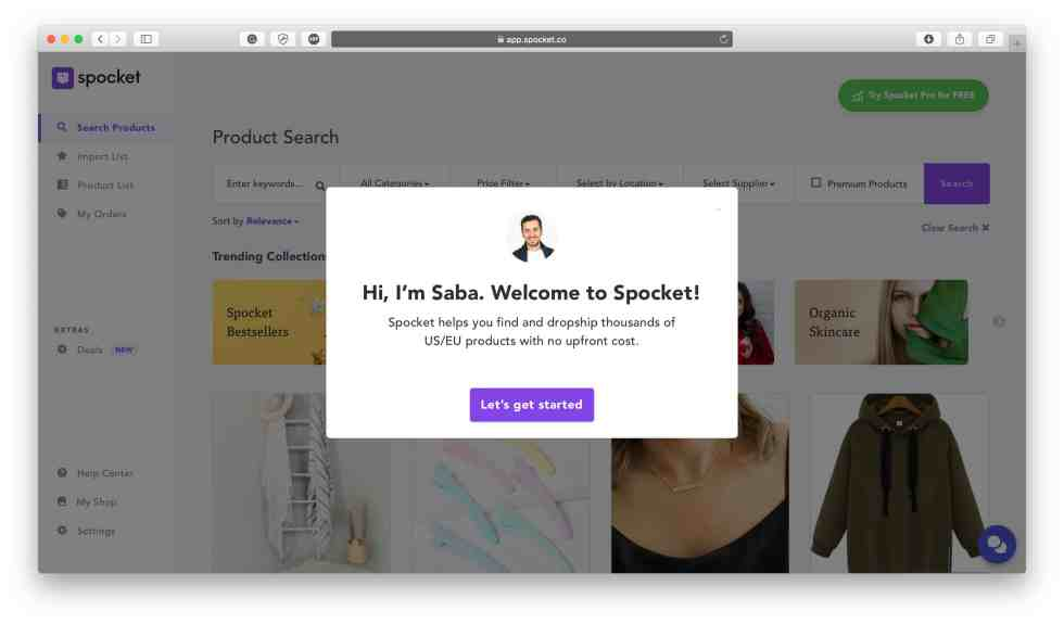 Linking spocket with shopify store