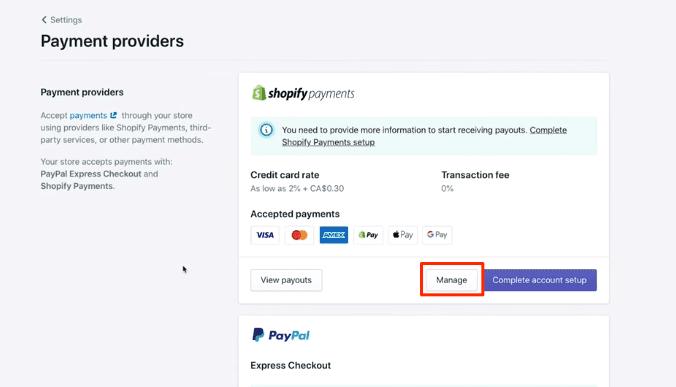 Testing shopify checkout page