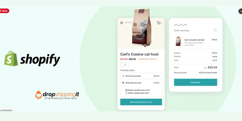 Merchants Can Offer Subscriptions In Shopify And Post Purchase Upsell