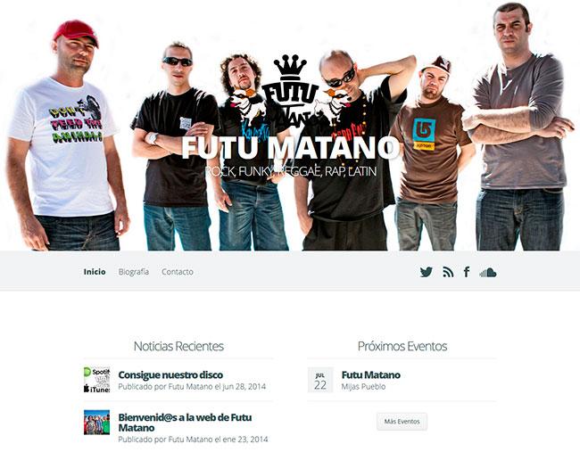 diseño web grupo de música