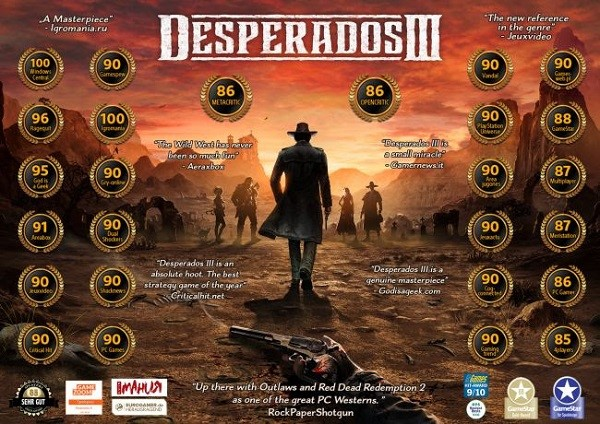 The Good The Great And The Excellent Desperados Iii Accoladestrailer Released Drop The Spotlight