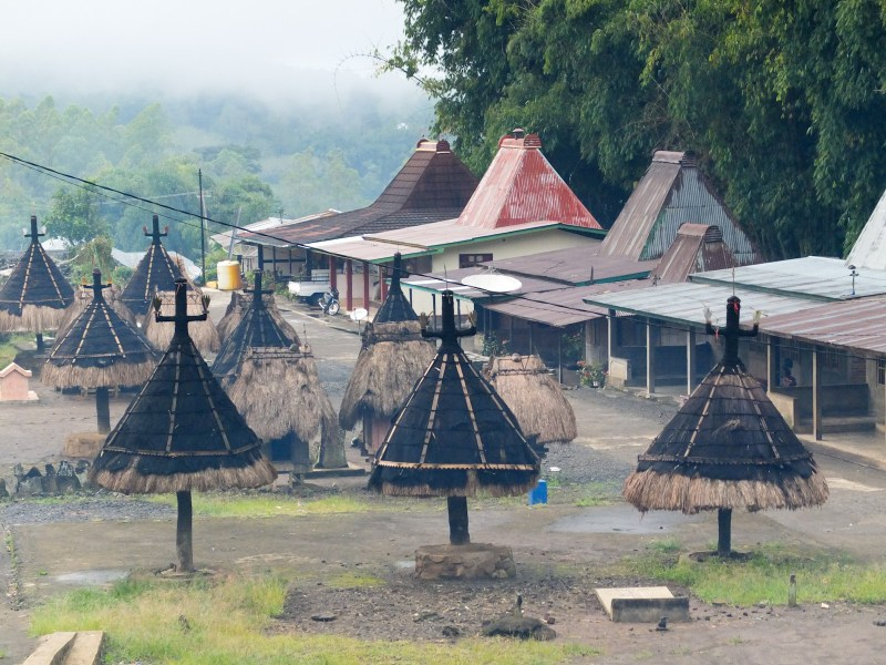 In a modern village, for comparison. Traditional customs and believes are still thriving in Bajawa