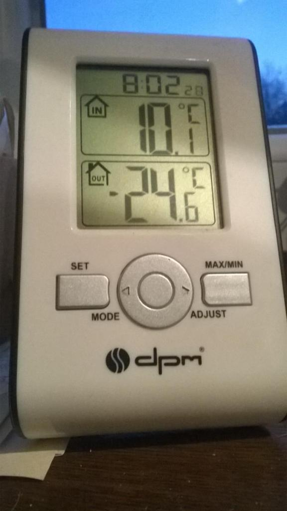 -25°C in Katowice