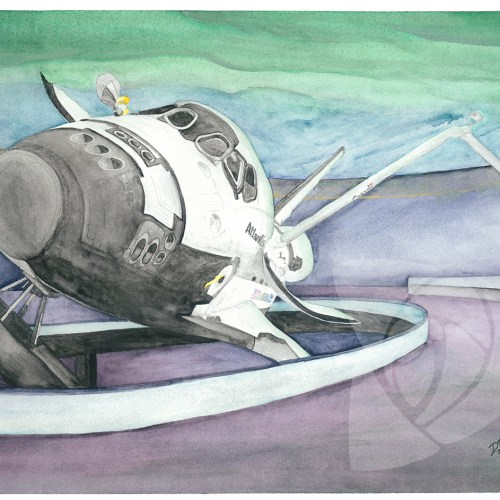 Space Shuttle Atlantis at KSCVC by Danielle Rose