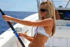 Girl, Heather, sea fishing