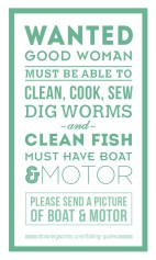 Wanted - Fishing Quote
