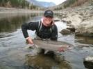 Adrienne Comeau fishing for steelhead