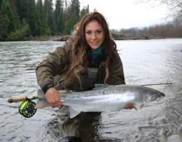 April Vokey fishing