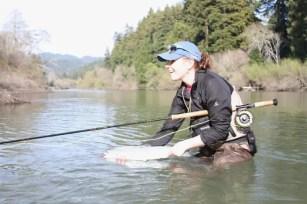 Camille Egdorf fishing