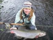 Dawn Chou fishing steelhead