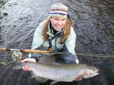 Dawn Chou fishing steelhead
