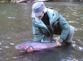 Diane Michelin fishing