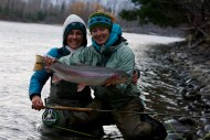 Kate Taylor steelhead fishing