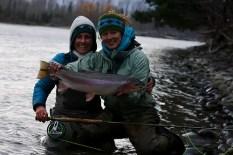 Kate Taylor steelhead fishing