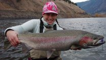 adrienne comeau fishing for trout