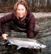Mia Flora Sheppard steelhead fishing