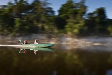 Fishing in Brazil by boat