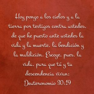 Deuteronomio 30.19