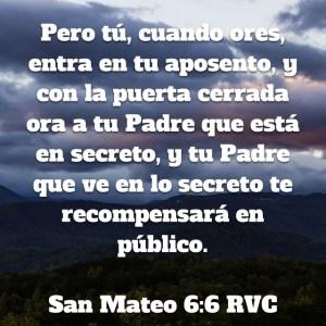 Mateo 6.6