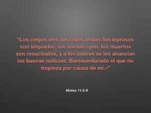 Mateo 11.5-6