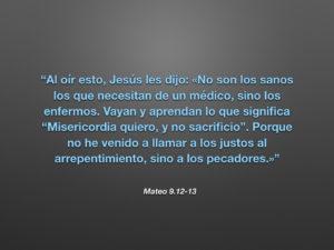 Mateo 9.12-13