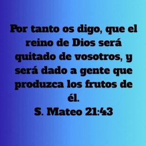Mateo 21.43