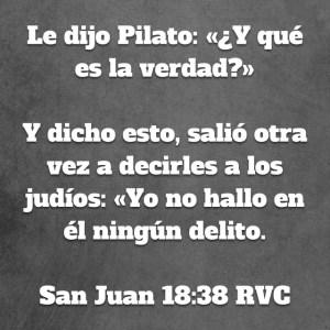 Juan 18.38