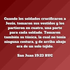 Juan 19.23